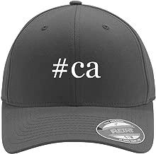 #ca - Adult Men's Hashtag Flexfit Baseball Hat Cap