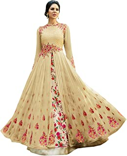 1d37e81158 Sojitra Enterprise Women's Heavy Embroidered Work Bridal Wedding Gown and  Anarkali