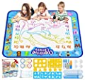 Jasonwell Aqua Magic Doodle Mat 40 X 32 Inches Extra Large Water Drawing Doodling Mat Coloring Mat Educational Toys Gifts for Kids Toddlers Boys Girls Age 3 4 5 6 7 8 Year Old by JIAXIN