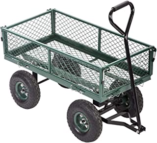 Pro-G Cart Yard Garden Wagon Utility Lawn Duty Heavy Wheelbarrow Dump Steel Sturdy Outdoor 400lbs