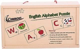 لعبة مكعبات الابجدية الانجليزية والعربية الخشبية من كانو، طقم من 6 - CT181216RJ151