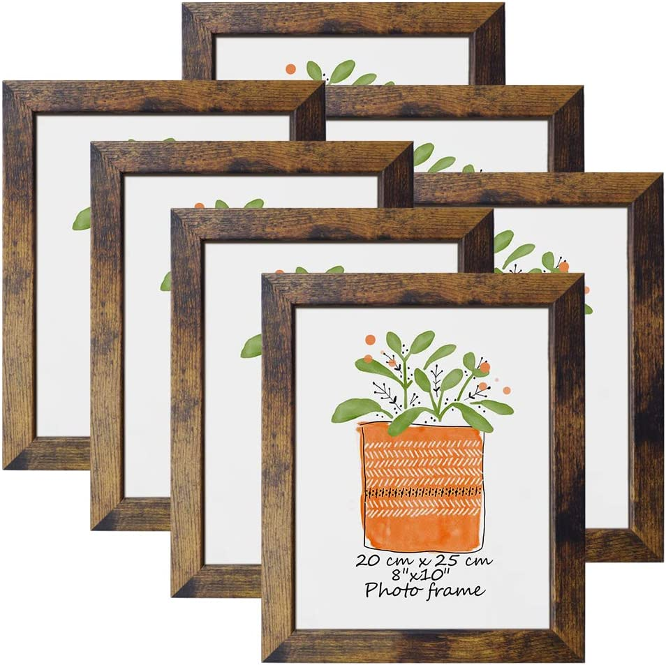 8x10 Picture Frame Rustic Brown Frames 10 Super special price Financial sales sale Inch by 8 Prints Fits