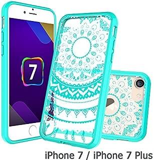 iPhone 7 Clear Case, AnoKe [Scratch Resistant] Colors Dream Catcher Mandala Flower Cute Grils Woman Ultra Slim Acrylic Hard Cover TPU Bumper Hybrid For Apple iPhone 7 TM CH Mint