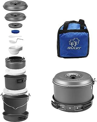 A Bulin Camping Cookware Set Mess Kit - Best value Car Camping Cookware Set