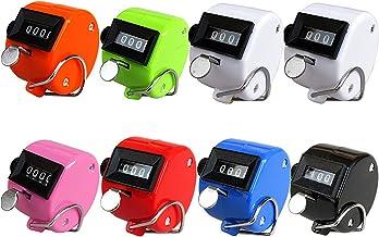 JKKJ Set van 6 kleuren Hand Tally Counter 4-cijferige Tally Counters Mechanische Palmteller Clicker Counter Handheld Pitch...