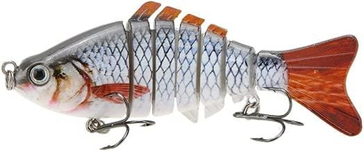 Doyime 4.5cm Leurre Vivant Multisegements Durs pour SUN-FISH Bait Bass Yellow Perch Walleye Pike Muskie Roach Trout Swimbait