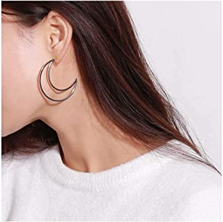 Exaggeration Earrings Geometric Moon Earring for Women and Girls.