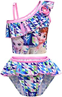 N /A Girls Swimsuit Princess Two-Pieces Bathing Suits for Kids Swimwear Bikini Set for Swimming Beach Party Gift