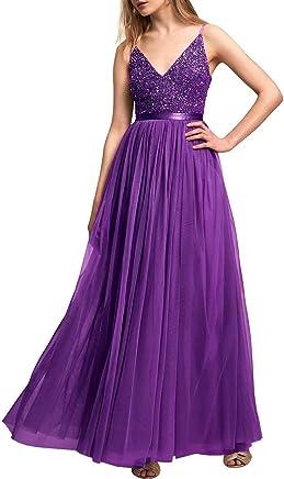8986896b4475b Lilibridal Beading V Neck Prom Dresses Tulle Spaghetti Strap Long Evening  Dresses010