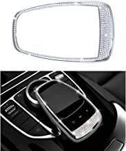 1797 Compatible Touchpad Cap for Mercedes Benz Accessories Parts Bling COMAND Screen Covers Decals Sticker Interior Decorations W205 S205 W213 S213 X253 C253 C E GLC Class AMG Women Men Crystal Silver