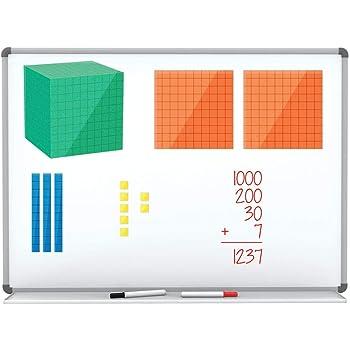 ETA hand2mind Magnetic Differentiated Base Ten Blocks - Math Manipulatives for Elementary (Set of 131)