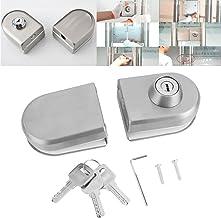 10~12mm roestvrijstalen glazen deurslot met sleutels Open/Close Home Hotel Badkamer Gebruik poortsloten