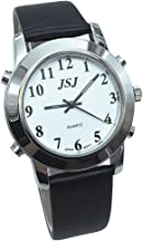Spanish Talking Watch for Blind People or Visually Impaired People with Alarm of Quartz, Leather Strap