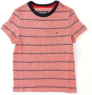 トミーヒルフィガー(キッズ)(TOMMY) チェッカードストライプクルーネックTシャツ