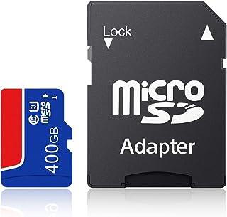 HUNBDH Micro SDXC Card 4K ビデオ録画 高速4Kゲーム 大容量 SDXC メモリカード UHS-I(U3)/Class 10 (C10) 高性能 防水仕様(400GB)-C