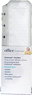Discbound Checklists Office by Martha Stewart Tan 50 Sheets 7 9/10 in X 2 1/2 in