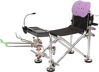 Belle Chaise pliante portable Chaise de pêche Chaise de pêche Jambes réglantes Retour Confortable Retour Support puissant ...