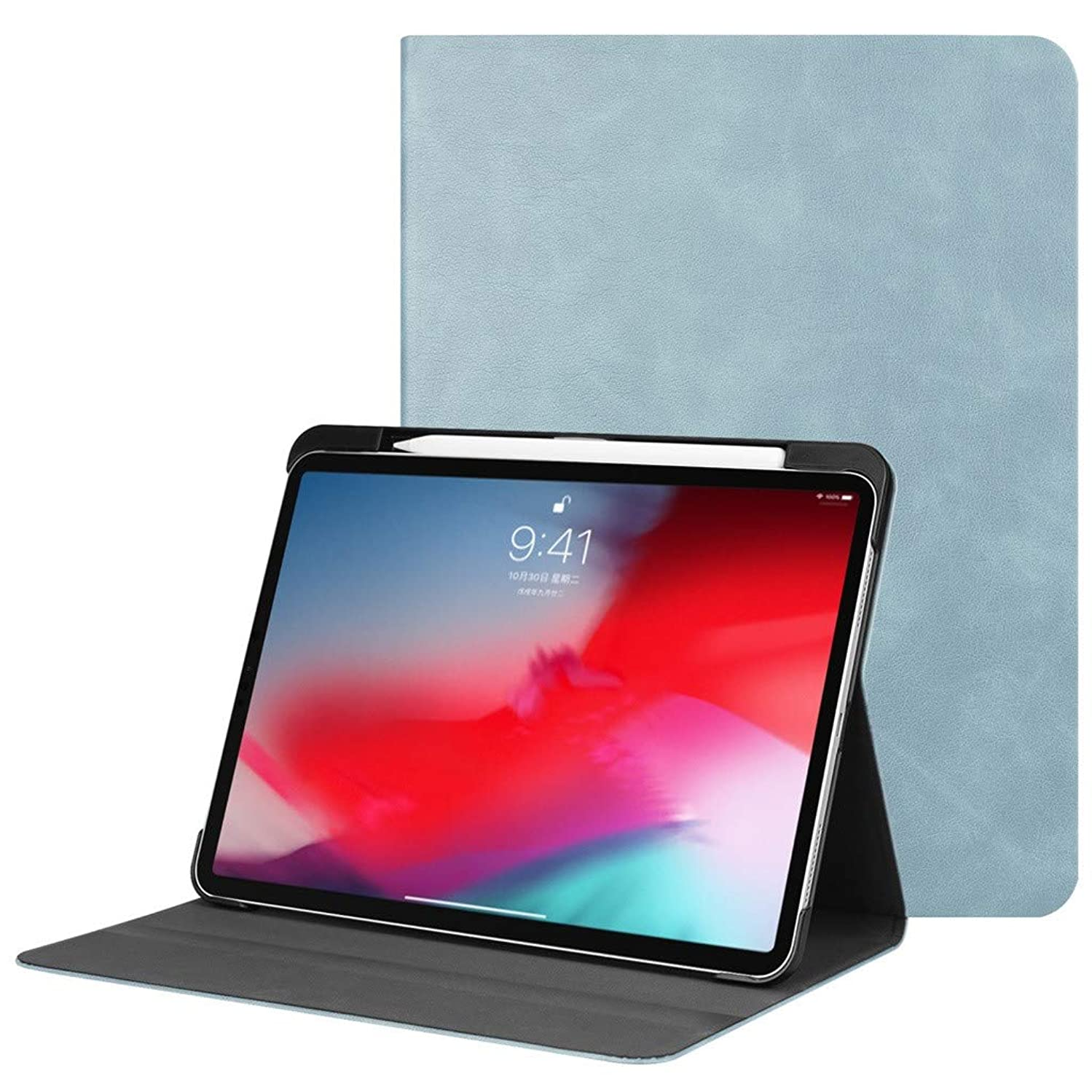 Kybers Slim Lightweight Smart Cover with Auto Sleep/Wake - Stand Cover Pen Holder 2019 for iPad Pro 11-Inch Case