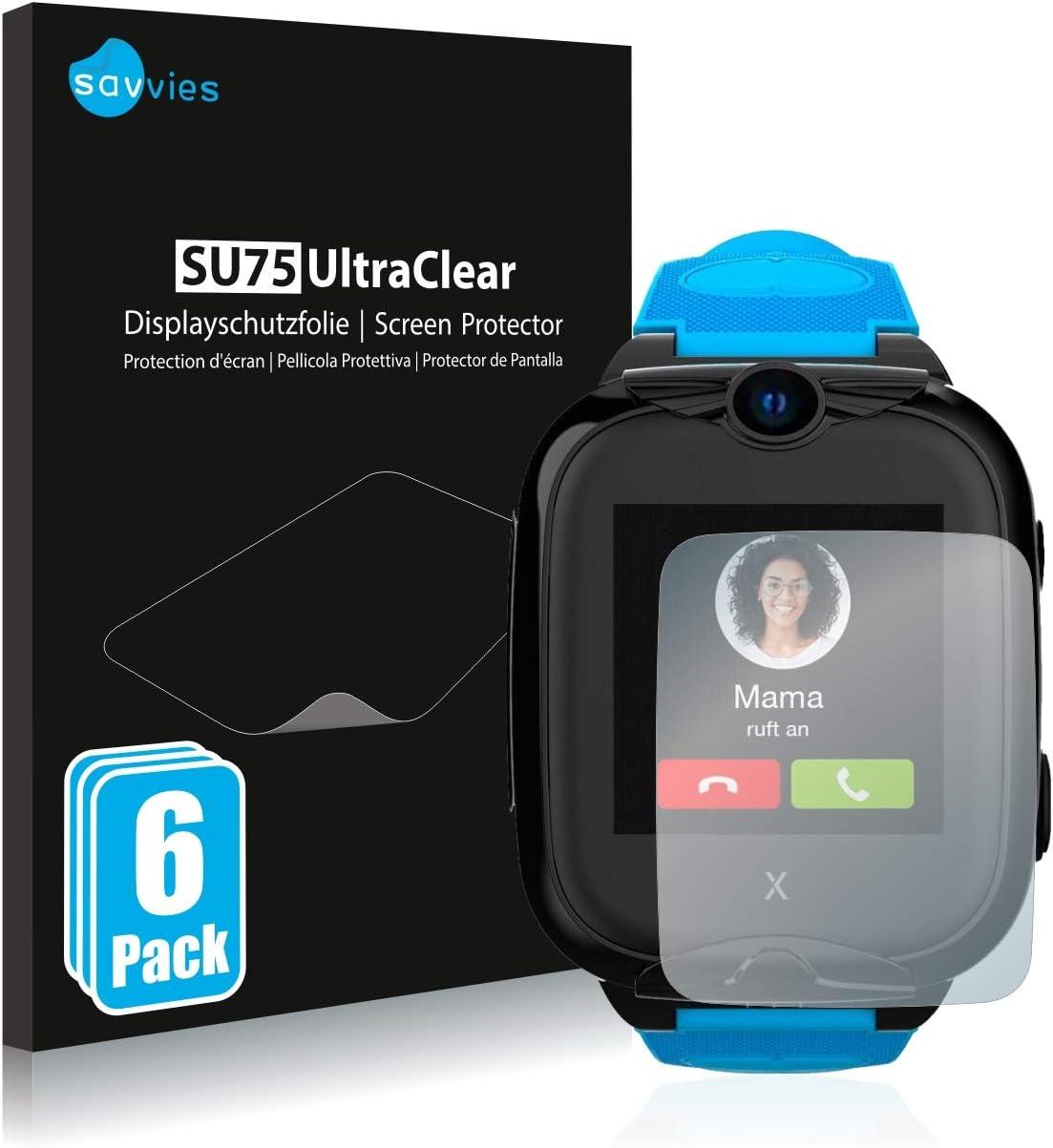 savvies Protector Pantalla Compatible con Xplora XGO2 (6 Unidades) Película Ultra Transparente
