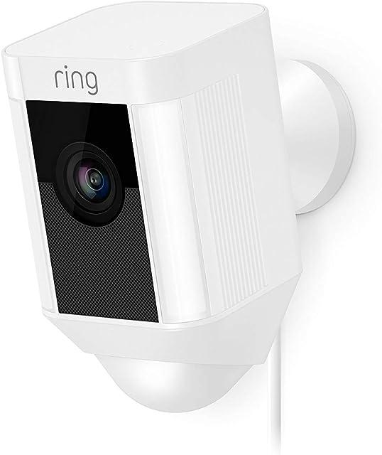 Ring Spotlight Cam Wired | Cámara de seguridad HD con foco LED alarma comunicación bidireccional enchufe UE