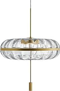 MZStech Suspension LED en verre cristal, lampe suspendue LED 10W avec base dorée
