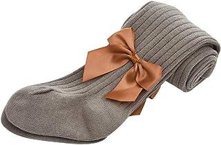 medias de algodón para chica color sólido pantimedias otoño e invierno leggings con lazo calcetines de bebe medias de ballet danza para niñas