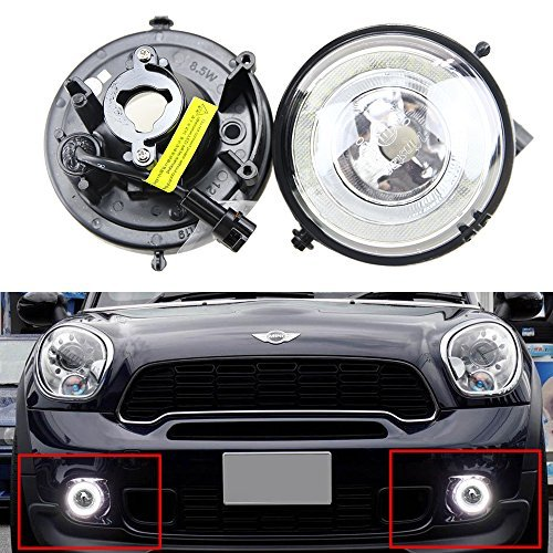 Mini DRL Daytime Running Light - LED DRL Daytime Running Light Halo Ring LED Fog Lamp Kit For Mini-Cooper R55 R56 R58 R60 Countryman R61 Paceman F56 Super Bright Led Driving Lamps