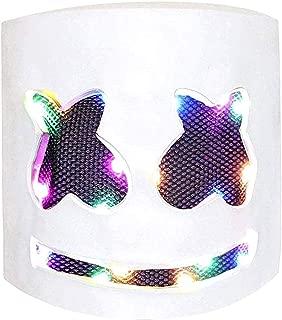 marshmello mask with led