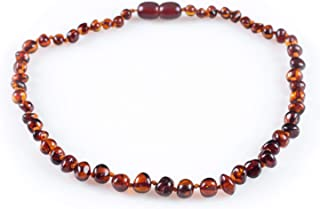 Baltic Amber Teething Necklace for Babies (Unisex)...