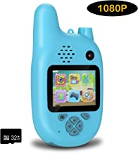 Kids Camera with Walkie Talkies, 2 in 1 Toy Walkie Talkies for Kids with 8MP Dual Lenses..