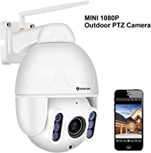 Dericam Mini 1080P Outdoor WiFi Security Camera, 4X Optical PTZ, Auto Focus, 30m Night Vision, 150° Viewing Angle, External SD Card Slot, IP65 Weatherproof, S2C, White