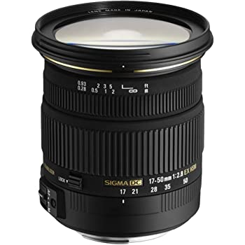 Sigma DC - Objetivo para Nikon (17-50mm, f/2.8, estabilizador, 77 mm), color negro