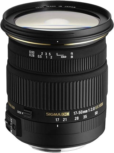 Sigma DC - Objetivo para Nikon (17-50mm f/2.8 estabilizador 77 mm) Color Negro