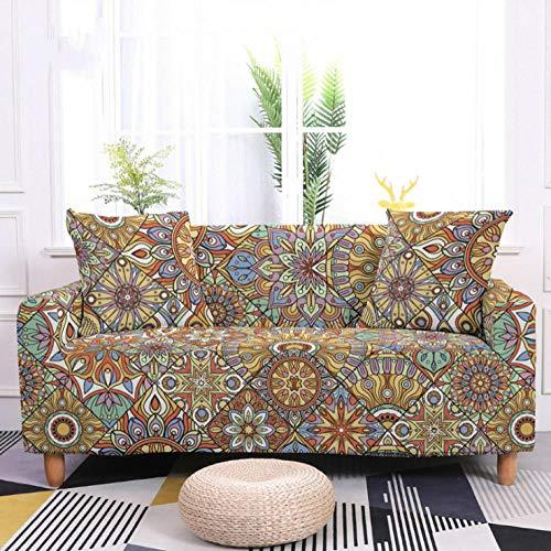 Fundas de Sofá Elastica 2 PlazasPatrón de Flor Amarilla Funda Cubre Sofa Regalar 2 Funda de Cojines Funda para Sofá Funda de sofá de Sillón Antideslizante Protector Cubierta de Muebles
