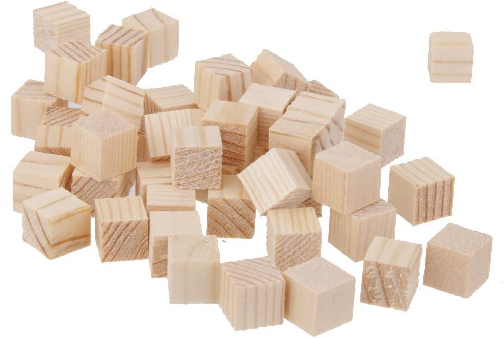 menolana 50 Under blast sales Pcs Natural Wooden for Cubes Max 63% OFF Squre Cra Embellishment