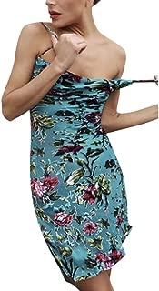 Women Casual Sleeveless O-Neck Print Tank Beach Spaghetti Mini Boho Sexy Dress