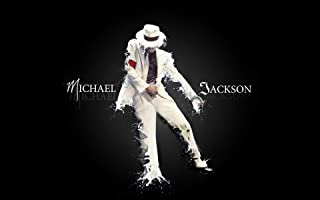 VVWV Mj Michael Jackson 1958 to 2009 Canvas Art Posters for Wall Living Room Boys Girls Motivational Dancing Wall Stickers...