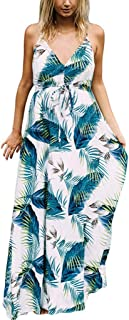 Camis Maternity Dresses for Women Floral/Palma Print Sleeveless Maxi Dresses Tunic Top Summer Dresses for Photography