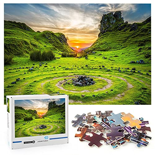 Puesta de sol de piedra de roca Rompecabezas infantil de 1000 piezas Naturaleza del paisaje Pareja Ideas de regalos Juego Decoraciones para el hogar-70x50cm