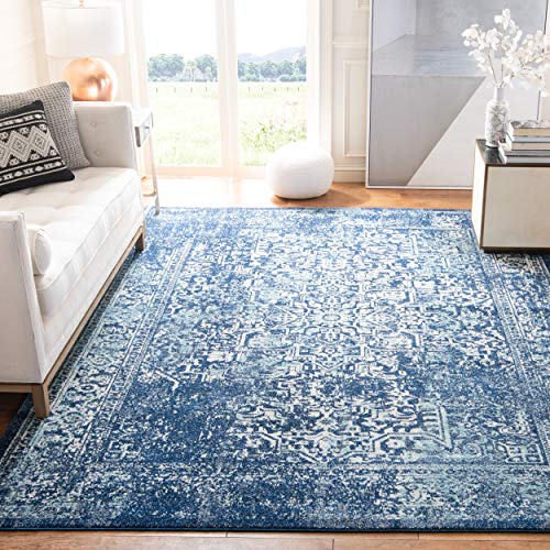 Safavieh Evoke Collection EVK256A Vintage Oriental Navy and Ivory Area Rug (8' x 10')