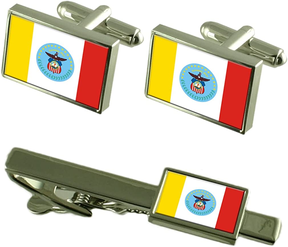Columbus City United States Flag NEW Cufflinks Set Large discharge sale Gift Box Tie Clip