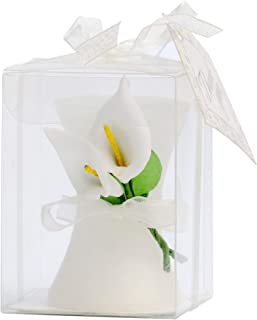AiXiAng 24 Pack Wedding Favors Calla Lily Style Candle Favors Gift Boxed with Thanks Cards for Bridal Shower Gifts or Baby Shower Favors Decorations