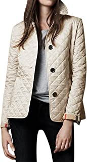 womens quilted jacket with plaid lining