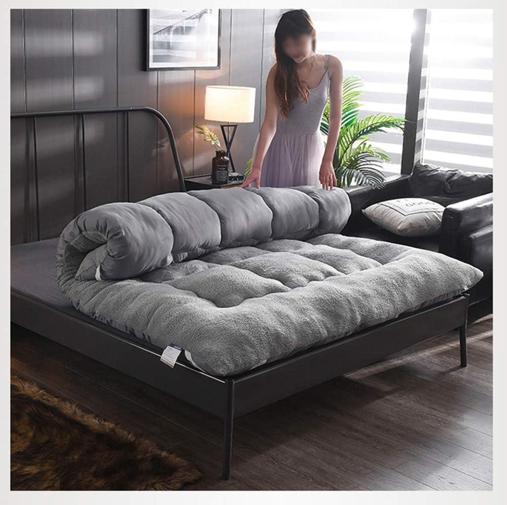 futon Bodenmatratze ZXGQF Doppel-einzelboden Matratze Japanisch A,90 * 200cm verdickte Tatami-Matte Isomatte Faltbare Rollmatratze studentenwohnheim Falt-matratze