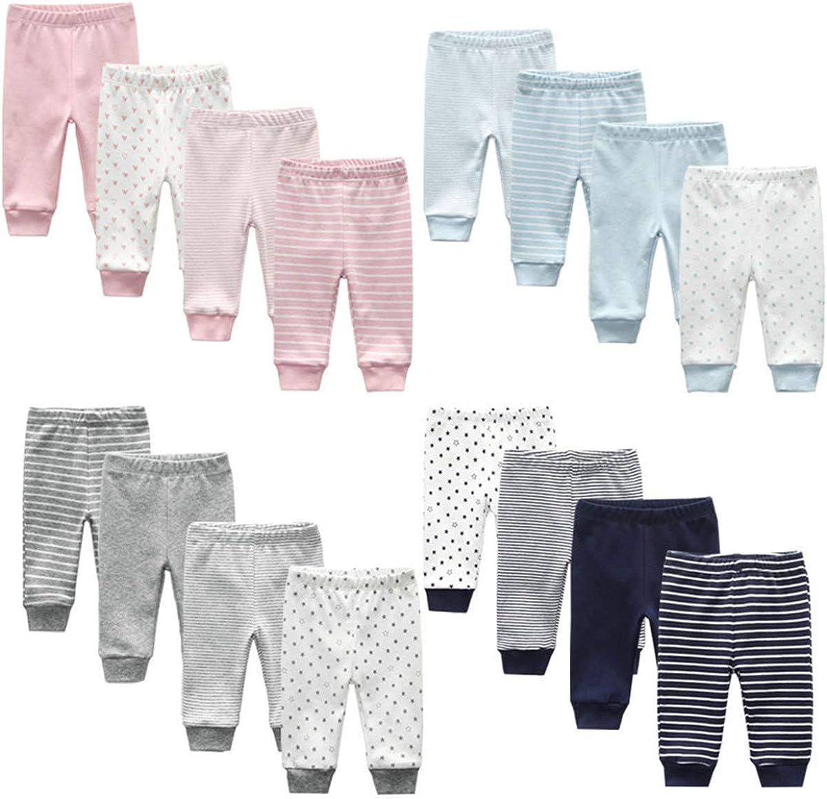 Confezione da 4 pantaloni in pile neutro per bambine per neonati unisex confezione da 4 Kiddiezoom