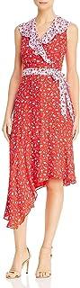 Parker womens Jennifer Flutter Sleeve Asymmetric Midi Dress Dress