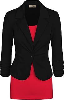 Hybrid & Company Womens Casual Work Office Blazer Jacket Made in USA