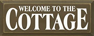 Sawdust City Wooden Sign - Welcome to The Cottage (Brown)