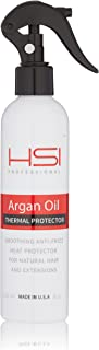 HSI PROFESSIONAL Argan Oil Heat Protector | Protect up to 450º F from Flat Irons & Hot Blow Dry | Sulfate Free, Prevents Damage & Breakage | Made in the USA | 8oz, Packaging May Vary