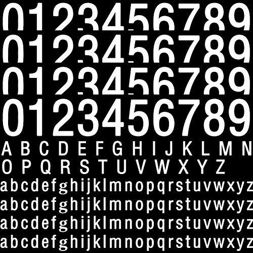 170 Pegatinas de Número y Letras de Basurero con Ruedas Etiqueta Adhesiva Blanca de Alfabeto de Números Grandes Pegatinas de Cubo de Basura, Hay 40 Números, 26 Letras Mayúsculas,104 Letras Minúsculas